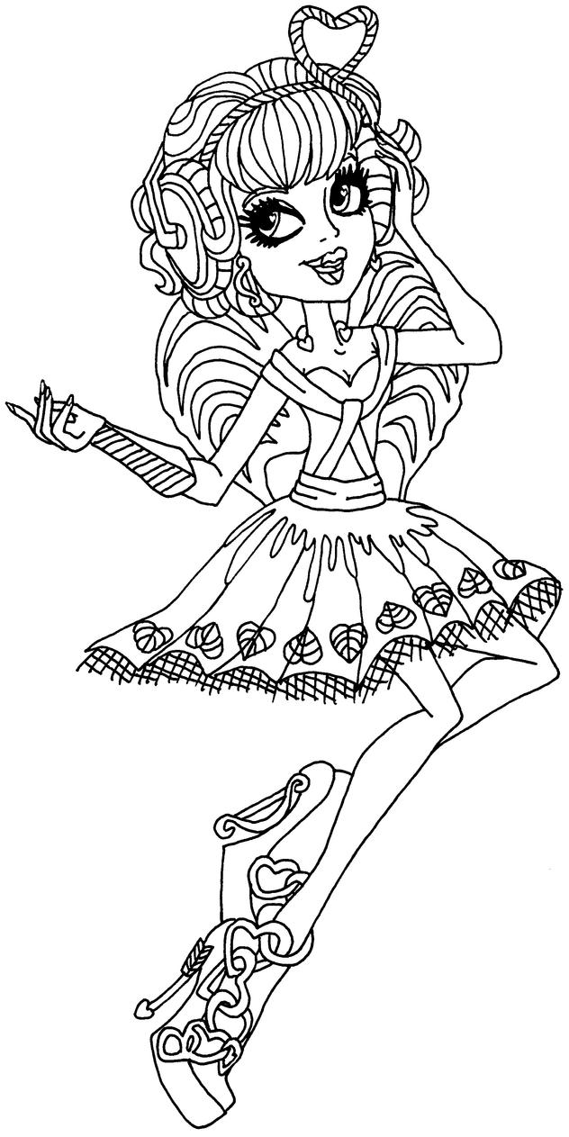 monster high cupid coloring pages - c a cupid by elfkena on deviantart