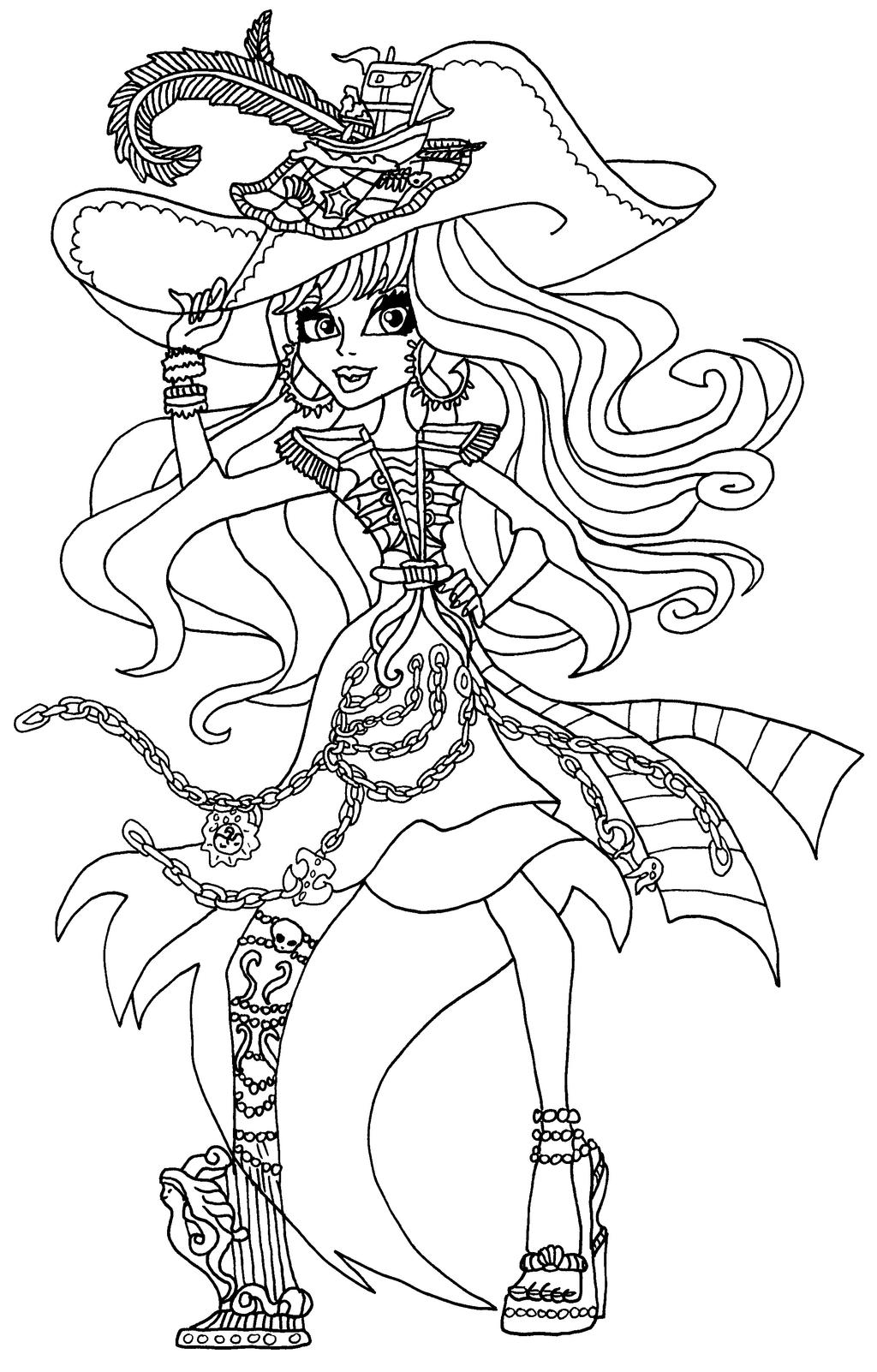 Monster high coloring pages haunted