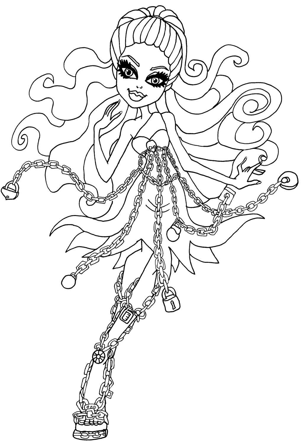 Monster High Ausmalbilder Catty Noir : Monster High Coloring Page Artwork By Elfkena On Deviantartcom
