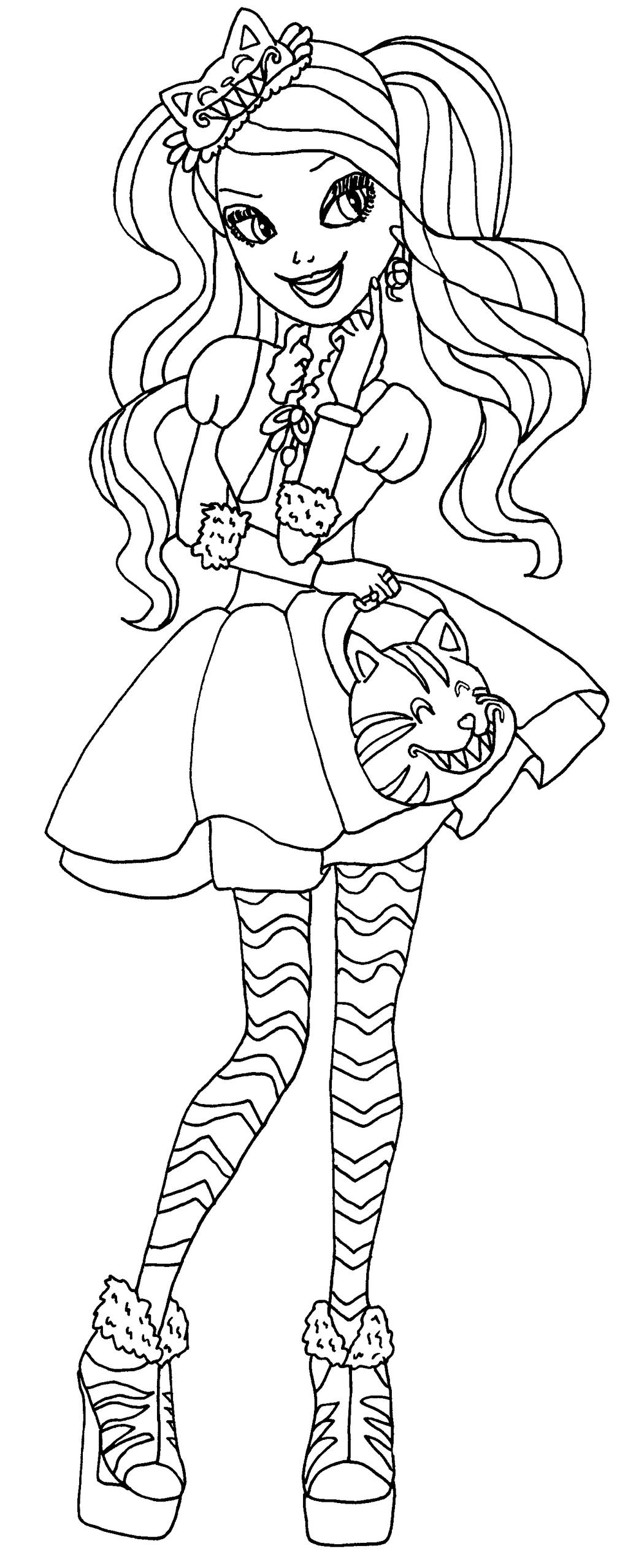 Kitty Cheshire Coloring Pages
