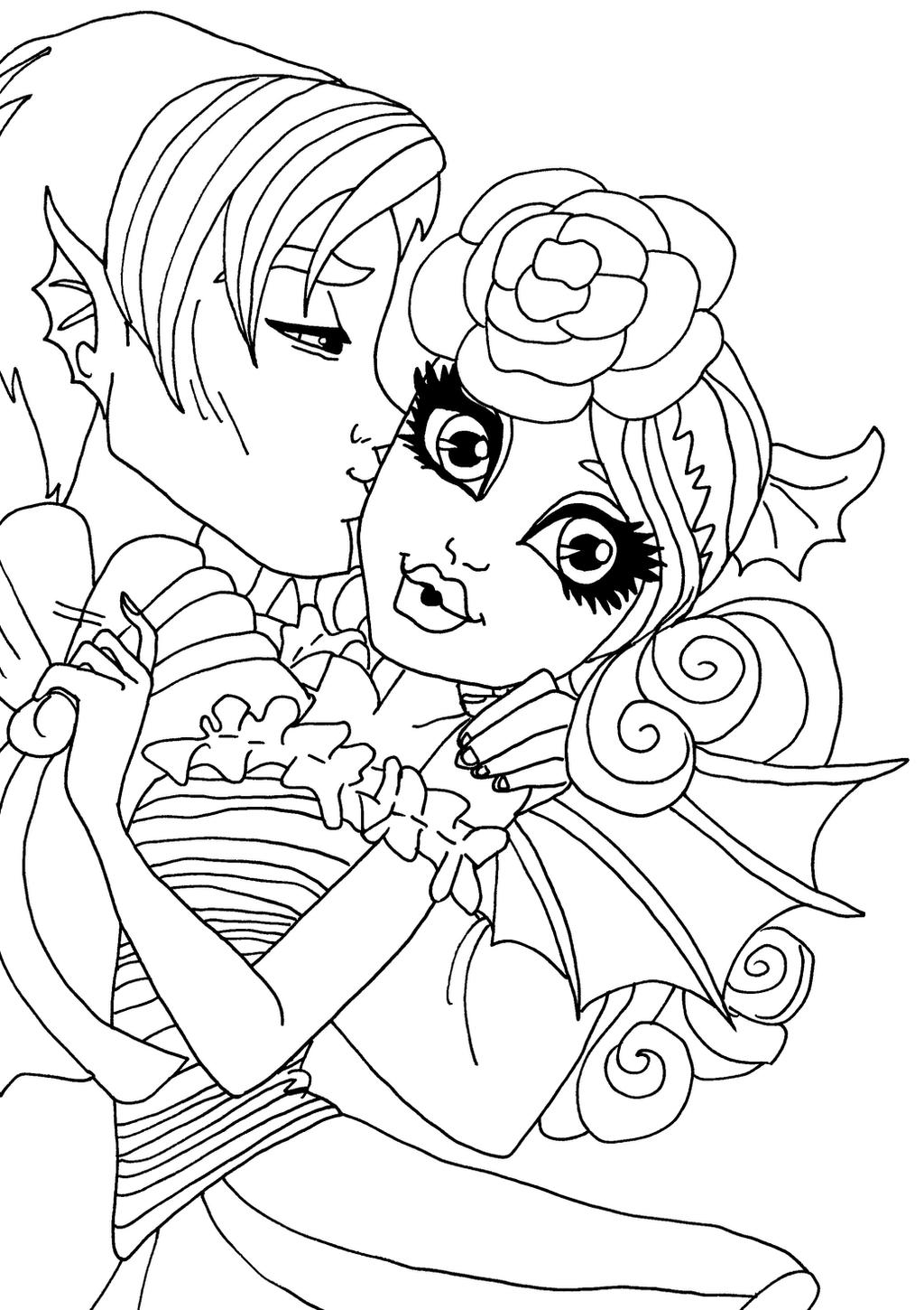 elfkena 6 0 rochelle and garrott - Monster High Coloring Pages Cupid