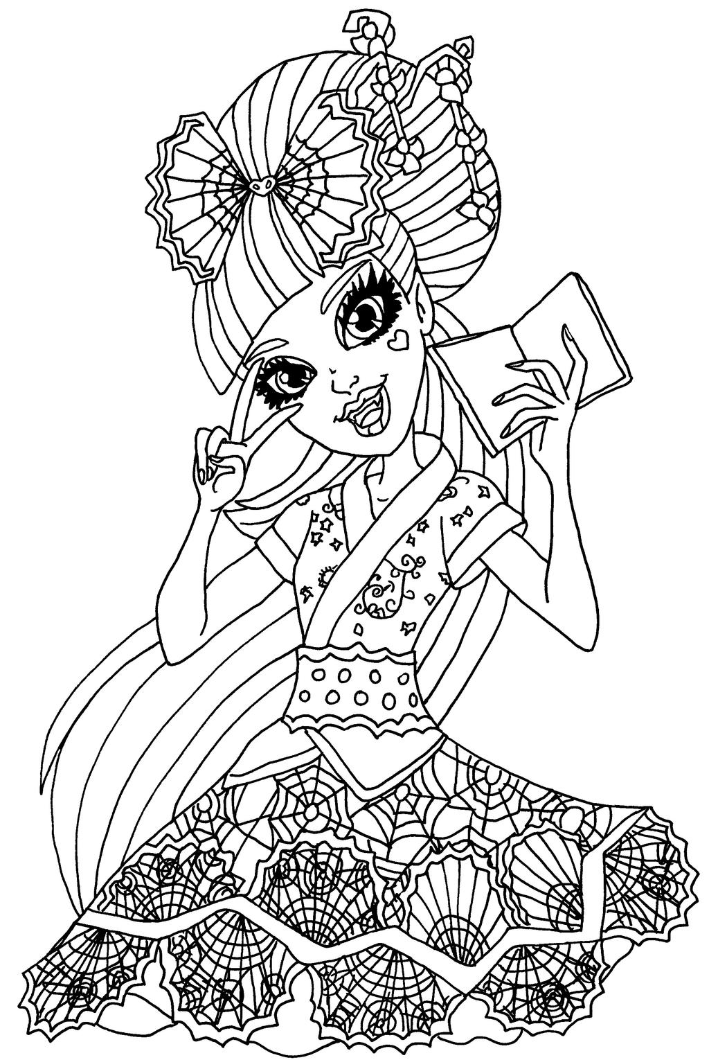 Draculaura exchange student by elfkena on deviantart for Draculaura monster high coloring pages
