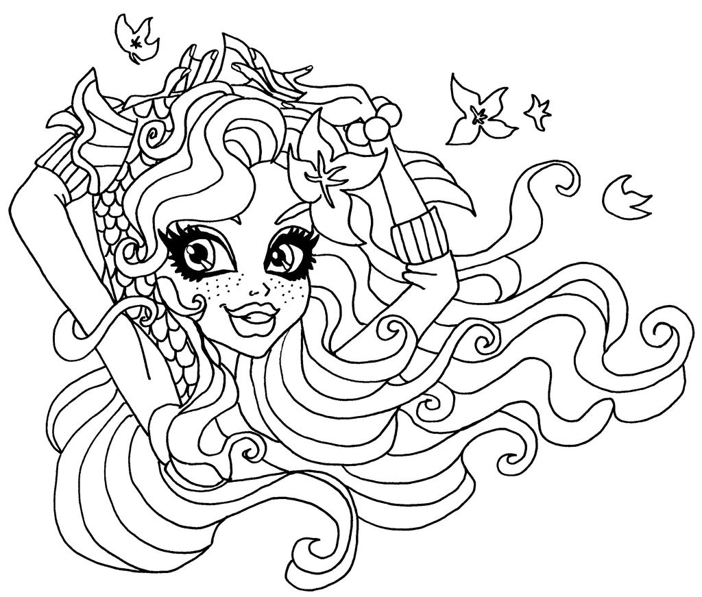 lagoona blue monster high coloring pages wwwimgkidcom