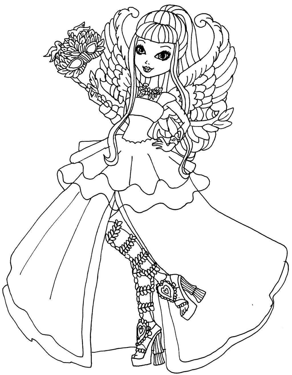 Printable coloring pages ever after high - Printable Coloring Pages Ever After High 5