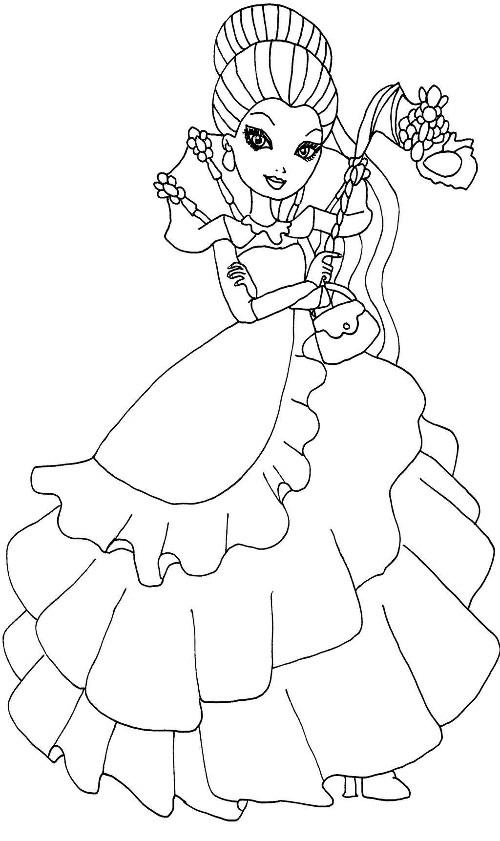 Ever After High Coloring Pages By Elfkena On DeviantArt