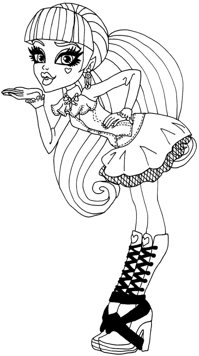 Monster high coloring pages of draculaura ~ Draculaura by elfkena on DeviantArt