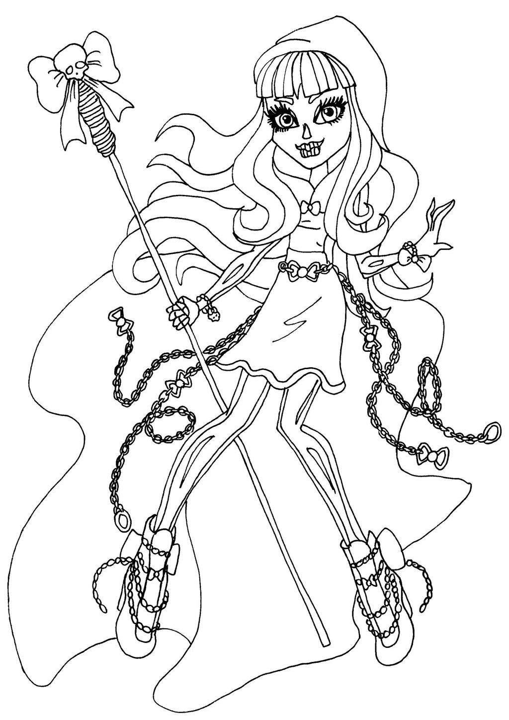 monster high coloring pages by elfkena on deviantart