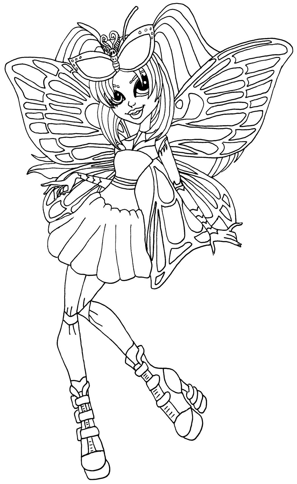 monster high coloring pages by elfkena on deviantart - Monster High Coloring Pages