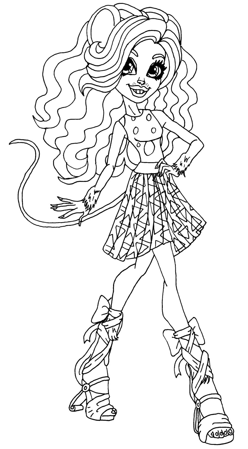 Monster high coloring pages by elfkena on deviantart for Monster high coloring pages 13 wishes