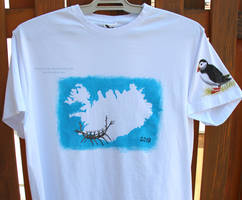 T-shirt with the Iceland theme