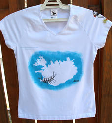 T-shirt with the Iceland theme - ladies top