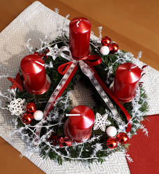 Advent candle holder wreath 2019