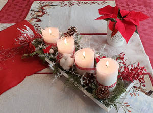 Advent candle holder 2019