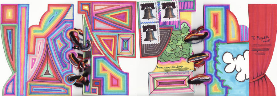 Mailart to Meredith powell by JimmyMcCullough