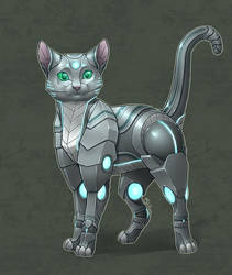 Commission - Anonymous - Robot kitty