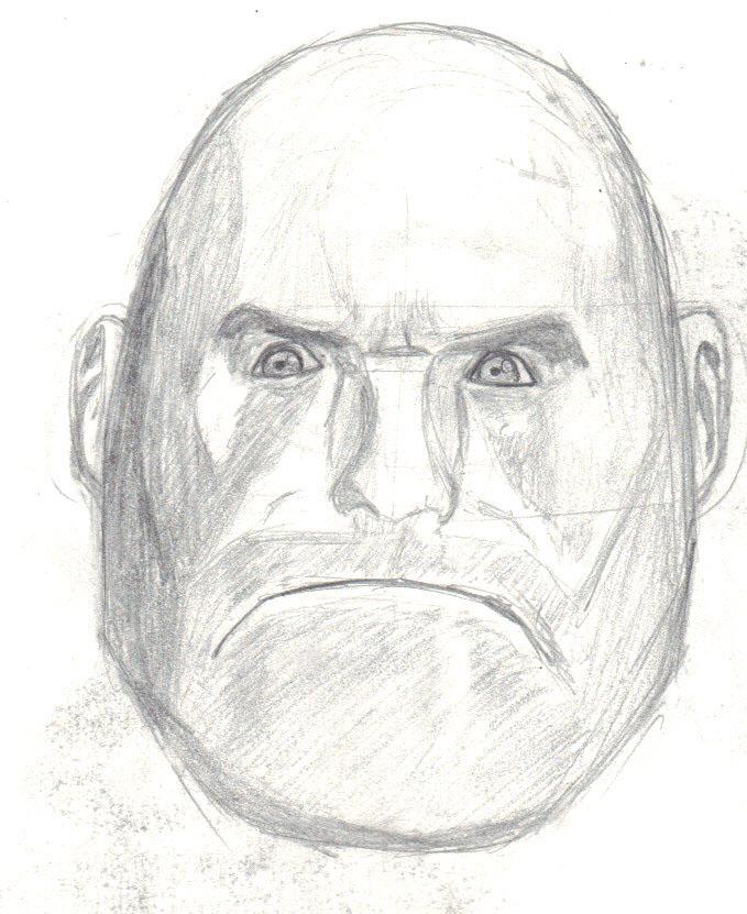 Heavy Head Drawing by Psyche-Clops