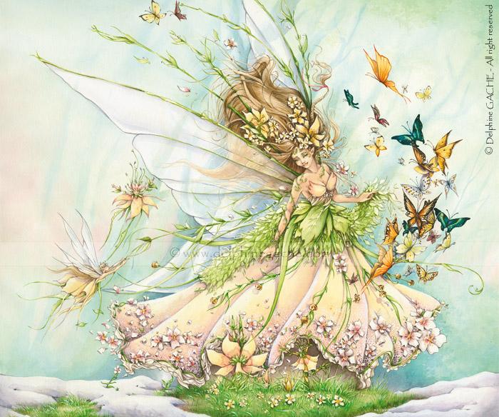 Была прекрасна лесная фея ,