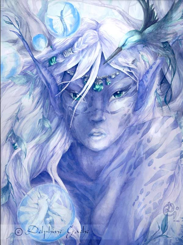 The blue elf by delfee
