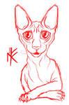 Sketch: Cat sphinx sticker