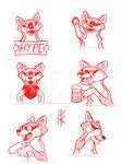Sketch: Jackal stickers