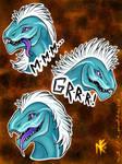 Sticker-pack: Dragon by Nornefirecat