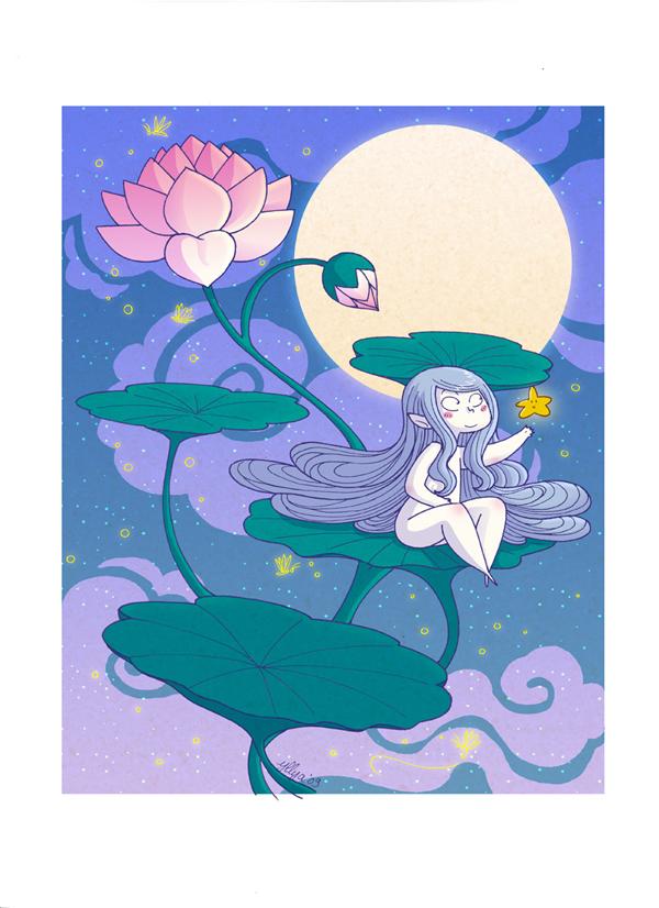 Waterlily night by yllya