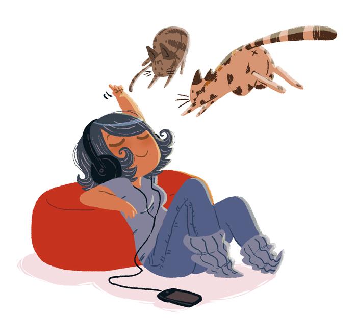 Cat attack by yllya