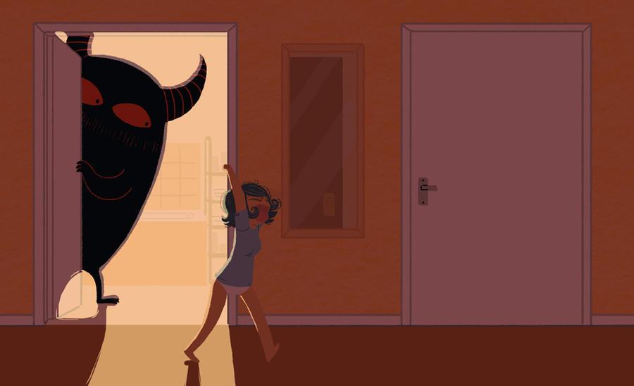 Bathroom Monster by yllya