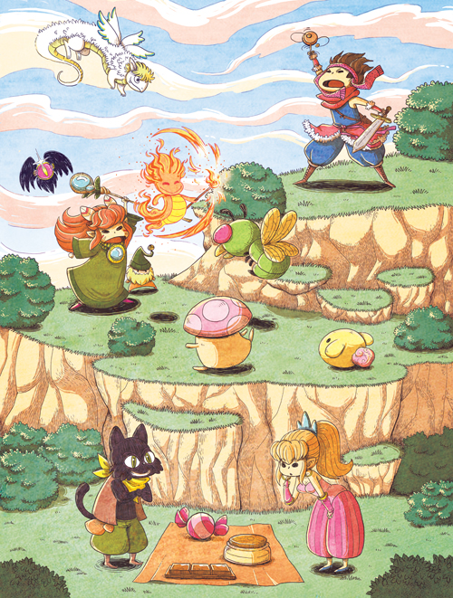 Secret of mana-Fanart by yllya