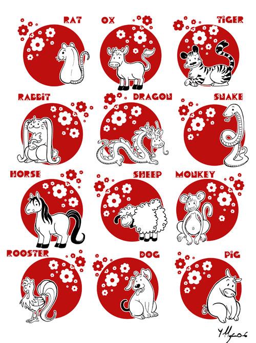 Chinese Zodiac by yllya