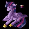 Alicorn Twilight by GlitchyScytheMiester