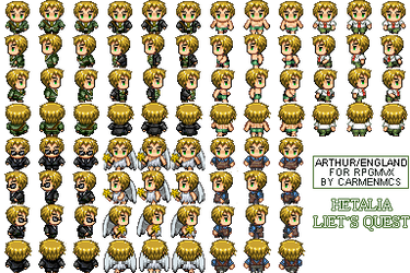 Hetalia RPG Maker - UK sprites 01