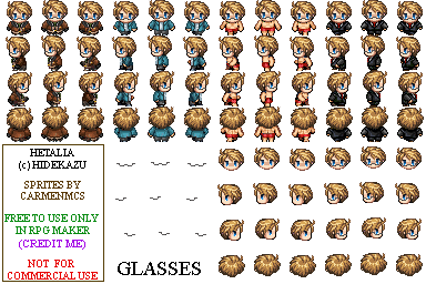 Hetalia RPG Maker - US sprites 01 by CarmenMCS