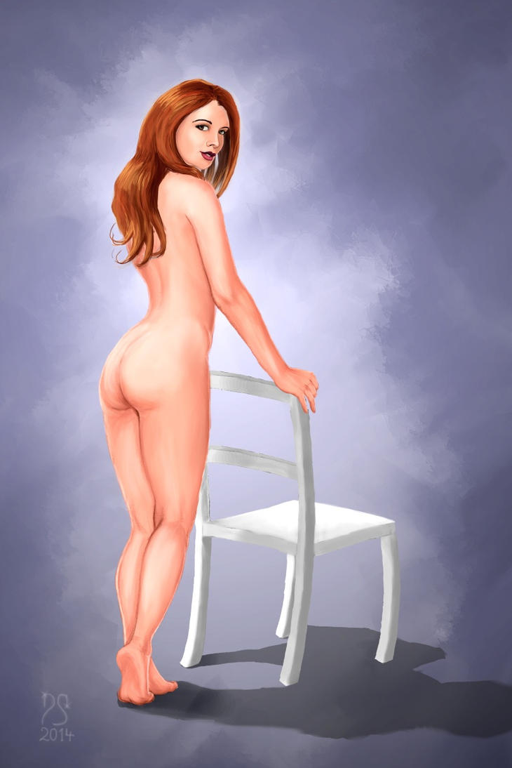 Girl with Chair by domischell