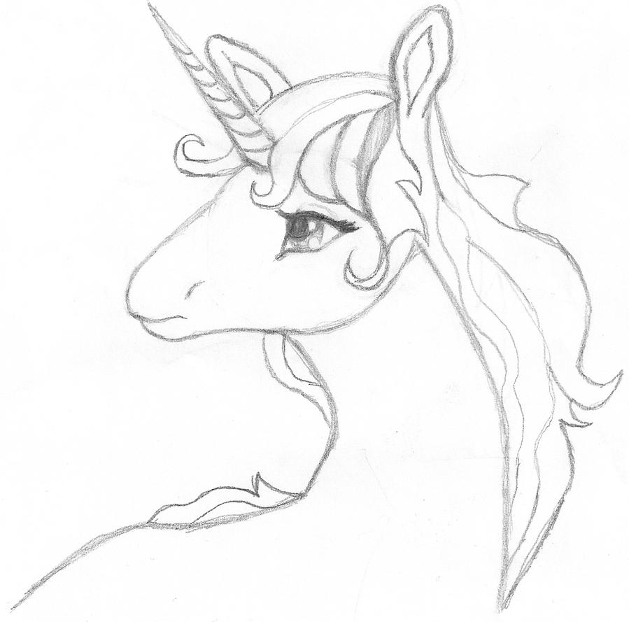 Last Unicorn Sketch by Spat856 on DeviantArt