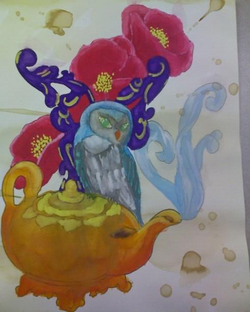 Tea party series- Owl by pathosda