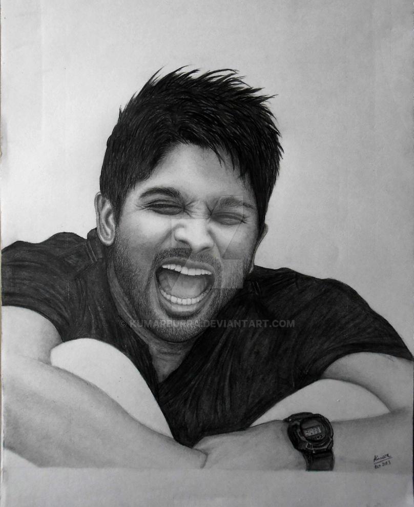 Allu arjun pencil sketch by kumar burra by kumarburra on deviantart
