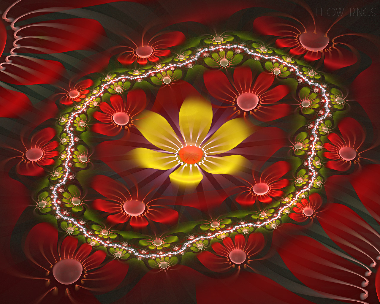 Обои фрактал, россыпь, абстракция, цветы. Абстракции foto 17