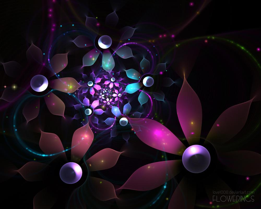 Картинки сверкающие цветы 7