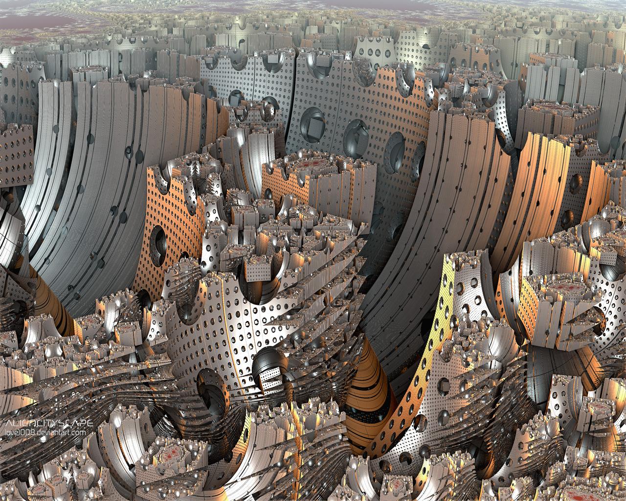 ALIEN CITYSCAPE by love1008
