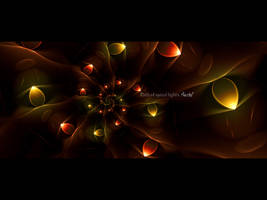 Path of spiral lights by love1008