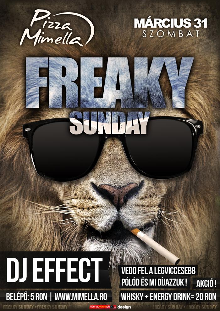 Freaky Sunday - Flyer by iulian95 on DeviantArt