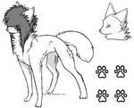 Scene Wolf - Lineart - Detailed