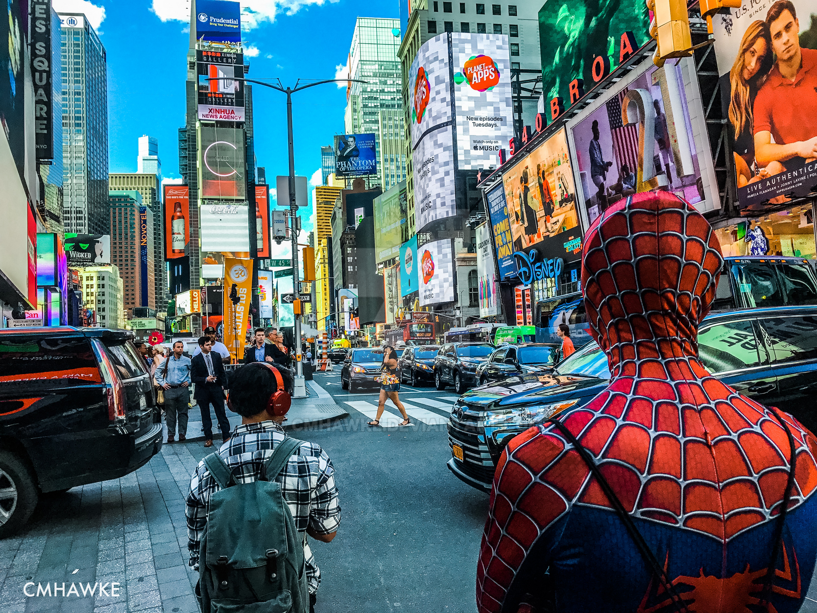 Spiderman in Times Square by cmhawke