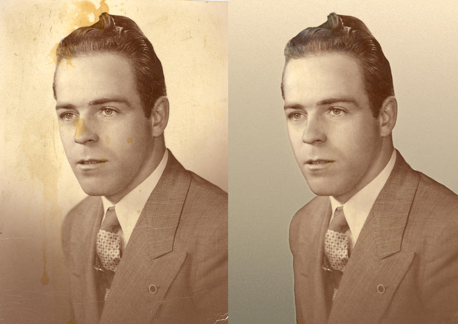 My Grandpa - photo restoration by Lillaanya