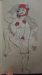 Practice Sketch: Thaiwolf - Muay Boran