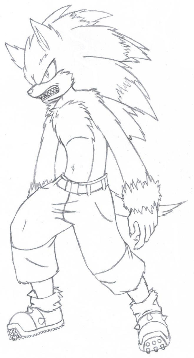 How To Draw Warehog Sonic The Werehog Coloring Pages