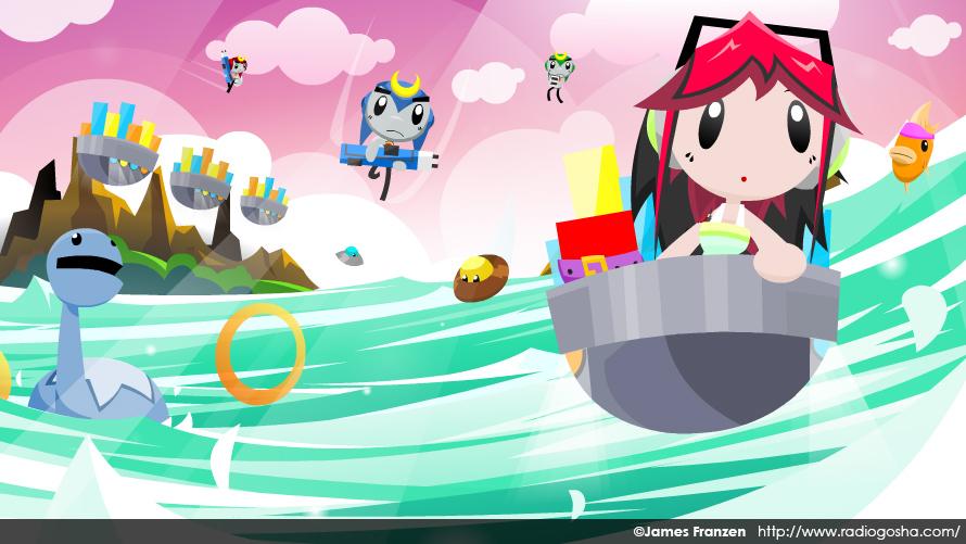 8-bit Ocean by GoshaDole
