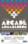 Arcade Armageddon 2013 Handbill/Poster design