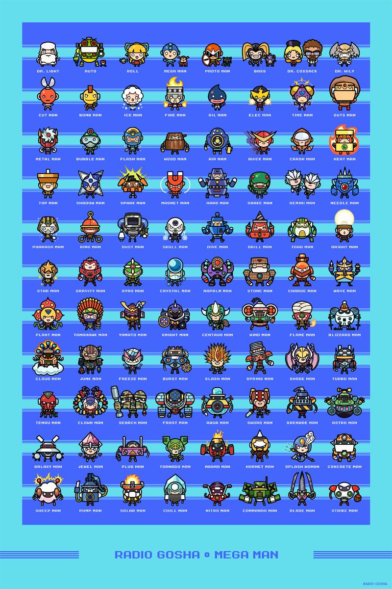Radio Gosha x Mega Man by GoshaDole
